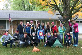 PHS Jr. Optimist members had fun during their annual #RakeAndRun service project