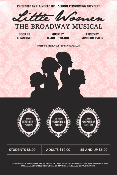 """Little Women: The Broadway Musical,"" performed by PHS students November 17 & 18, 2017"