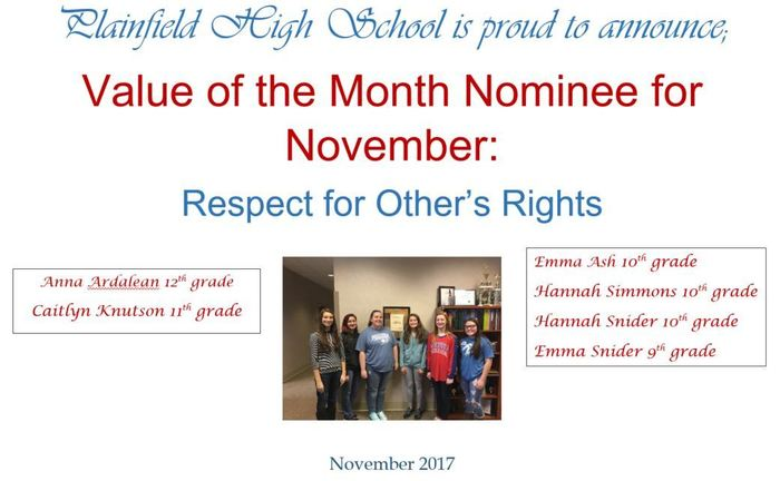 Value of month - November