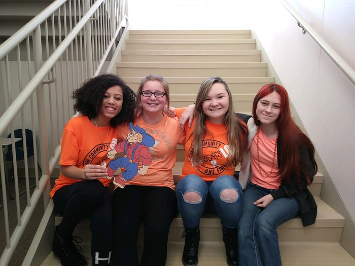 Students show their support for #LCSbeatsLCH by wearing orange today!