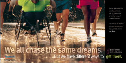 We all chase the same dreams. But we have different ways to get there. #DisabilityAwarenessMonth