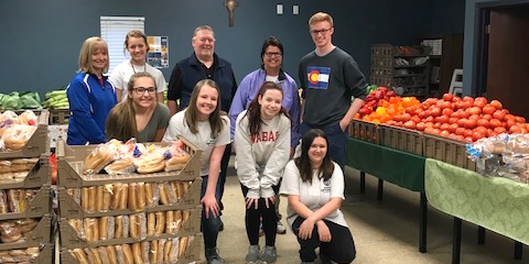 Members of the PHS Jr. Optimist volunteered Saturday at Anna's House, a food pantry serving inner-city Indianapolis.
