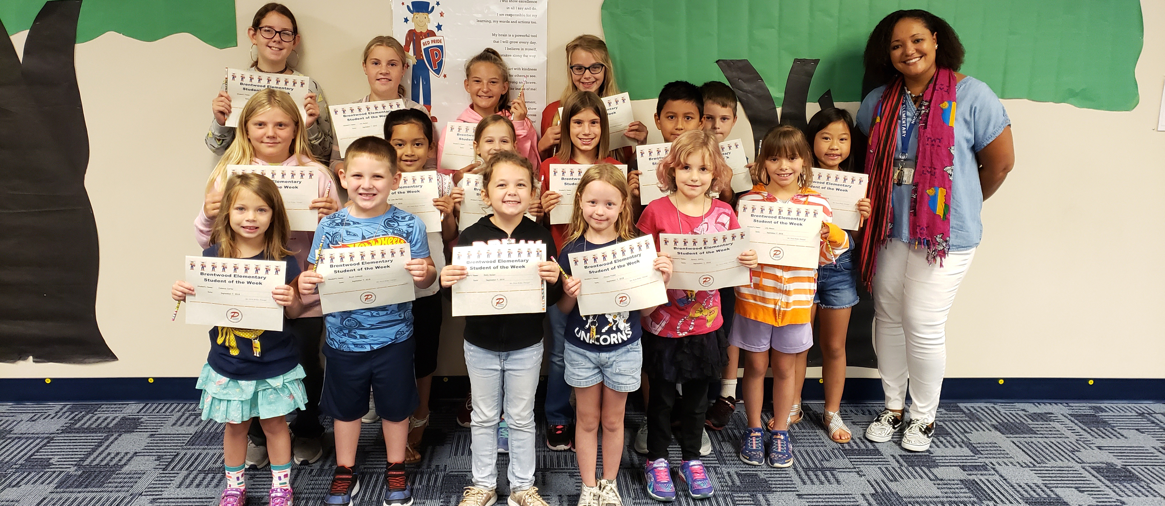 Brentwood Students of the Week for September 7, 2018