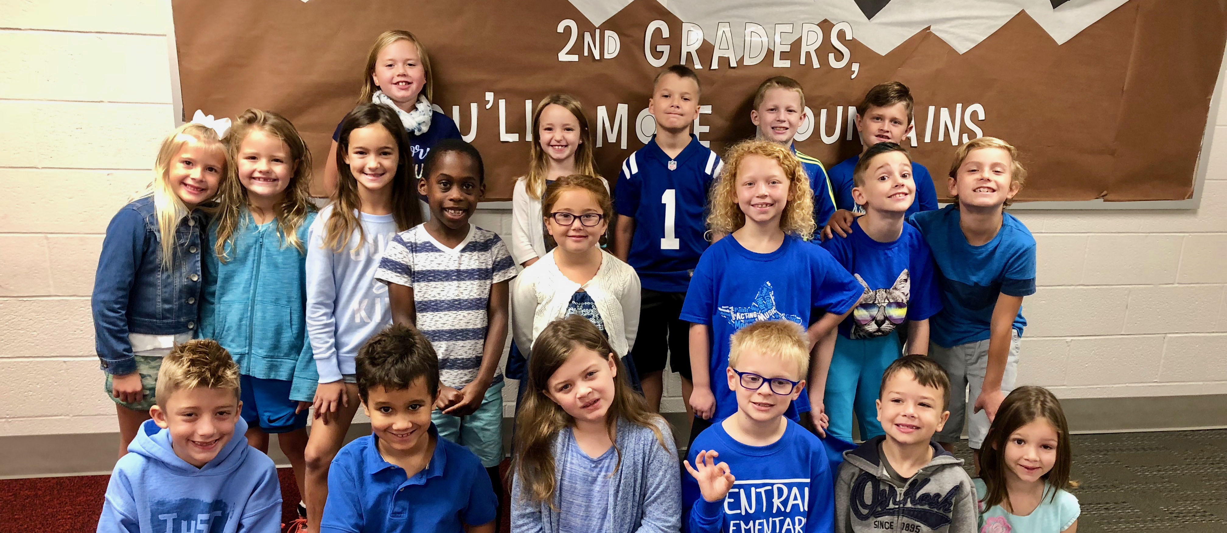Central 2nd graders wore blue for #BlueUp Day - Be Kind and say no to bullying!