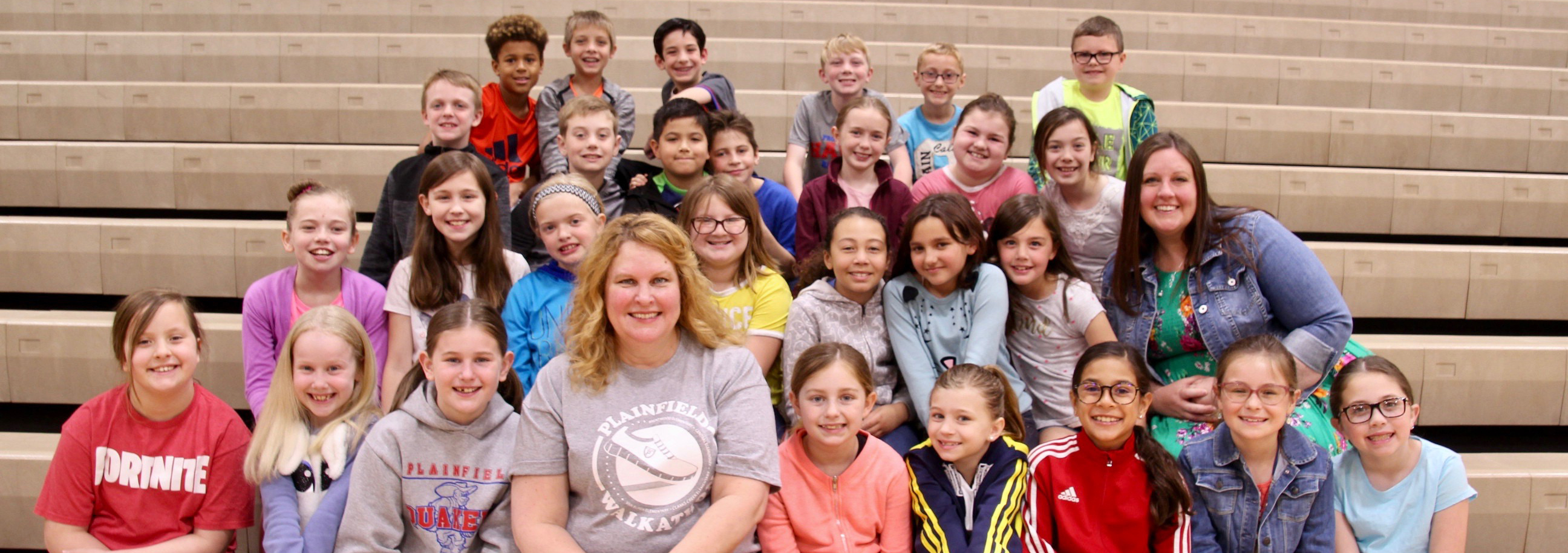 Mrs. Judd's third grade class won the class earnings award from this year's Walkathon.