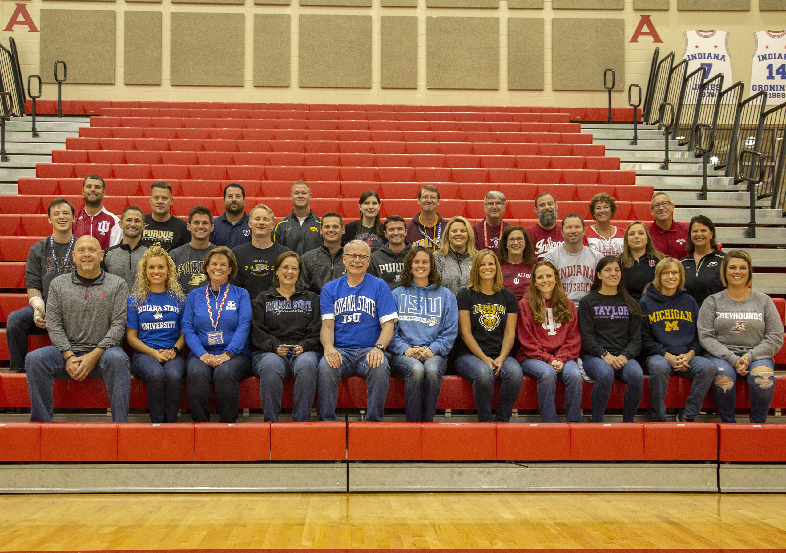 PHS staff wear their college colors during College and Careers Week