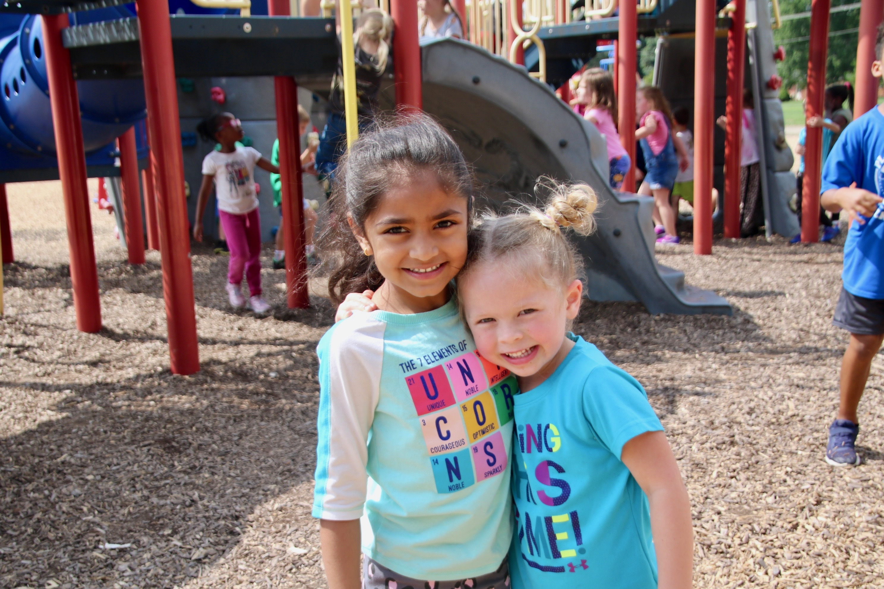 Brentwood students love their new playground