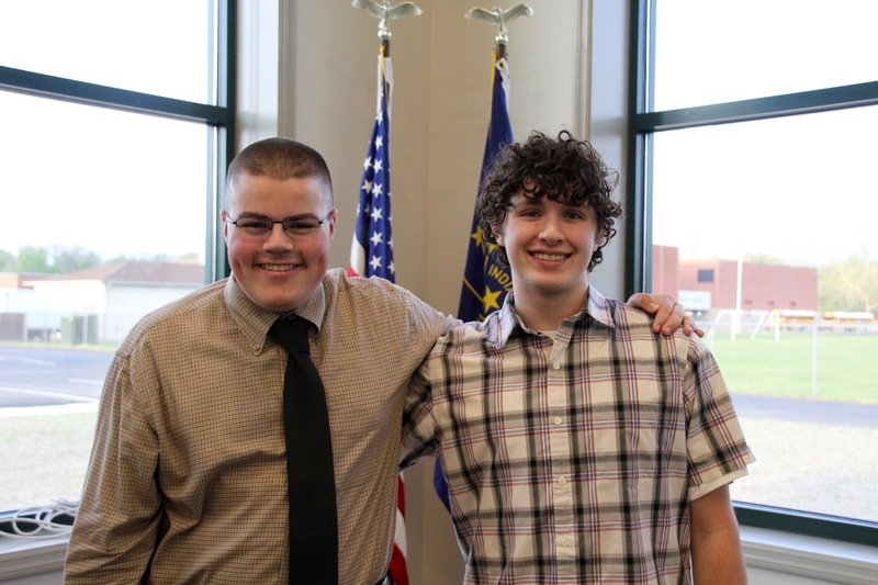 Jacob Brejcha and Adam Vincent shared their essay and speech from the recent Optimist competition