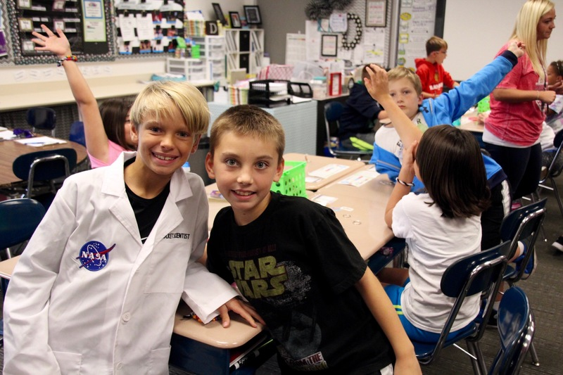 It's always a great day when NASA scientists roam the school!