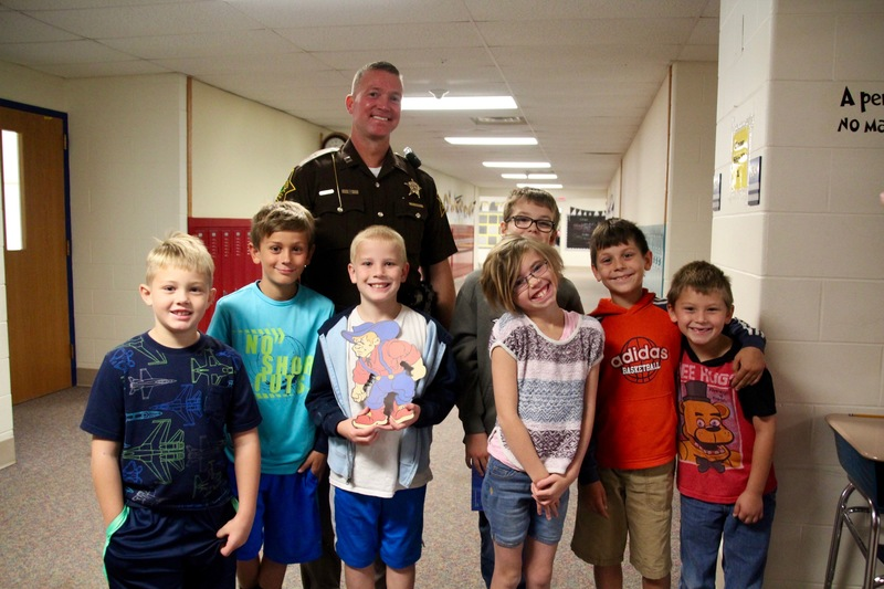 Several students had been eagerly awaiting the chance to meet Mrs. Sadler's husband, and he did not disappoint them!
