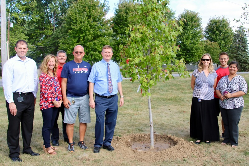 The PCMS administrators and DeHoff's teaching colleagues participated in the ceremony.