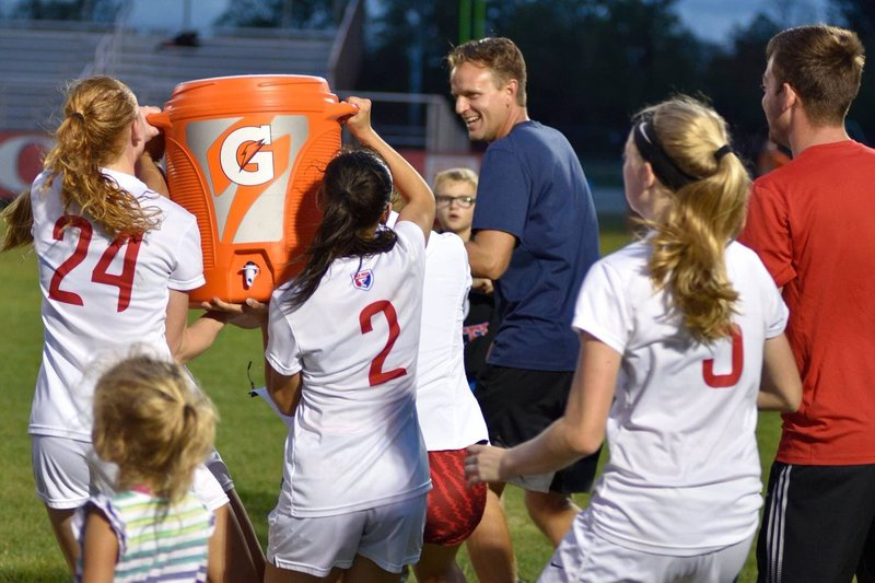 Soccer players are ready to 'dump the Gatorade' on Coach McAdams following their sectional championship