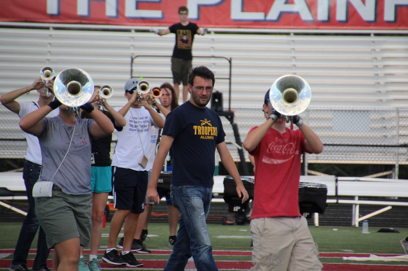 Summer practices are the time when the band focuses on intricate marching maneuvers.