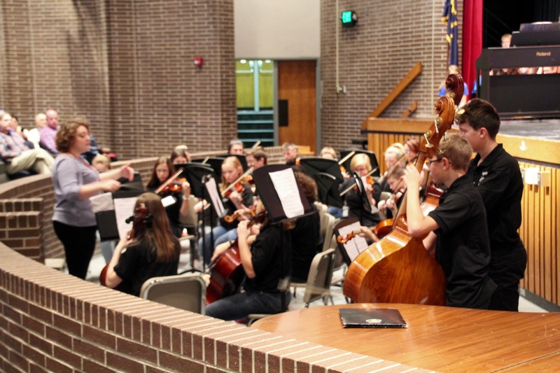 PCMS Orchestra students brought many smiles to the faces of their classmates and guests with their beautiful performance.