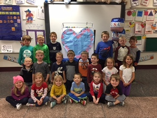 Mrs. Law pre-school class say thank you to our veterans!