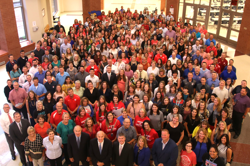 A group photo of PCSC teachers, counselors and administrators