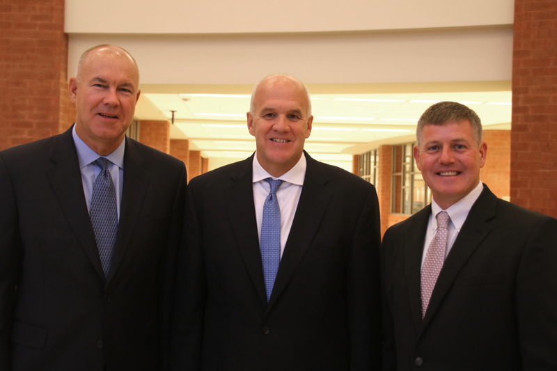 Superintendent Scott Olinger (center) and Assistant Superintendents Jud Wolfe (left) and Pat Cooney (right)