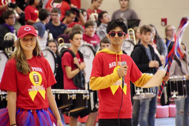 Student Government leaders facilitated the pep session on the afternoon of Homecoming