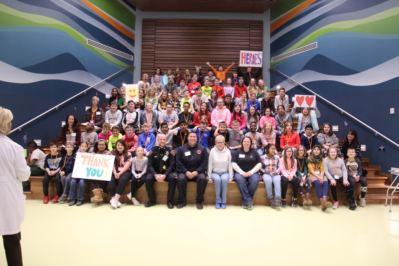5th grade students thank local heroes from police, fire and 911