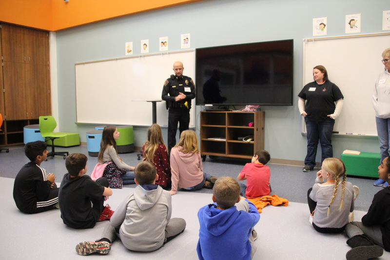 Not only are public safety officials our heroes, they also have important jobs within our community. Here, they talk with students about their jobs and the studies that led them down that path.